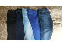 5 pairs of jeans size 16