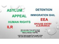 Immigration Solicitors, Detention, Asylum, Appeal, ILR, Human Rights, EEA, Bail,Entry Clearance