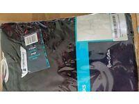 Brand new Tom Franks Cotton Mens Jersey Robe Black XXL