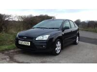 2006 Ford Focus 1.6 Sport, Panther Black, 1 Years Mot, Service History, Serviced, Warranty