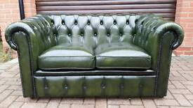 Chesterfield leather 2 seater sofa. EXCELLENT CONDITION! BARGAIN @