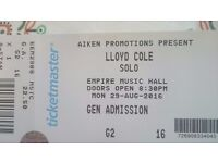 4 tickets Lloyd Cole Empire Belfast £22.50 each
