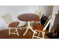 Country kitchen chair and table dinning set
