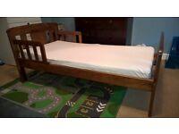 John Lewis Boris Toddler Bed, Antique Darkwood