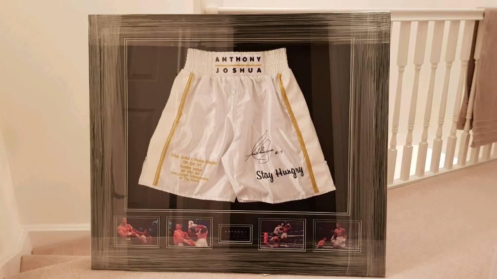 Anthony Joshua Signed Autographed Commemorative Boxing Shorts