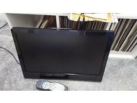 Neon black 20 inch lcd tv with wall bracket