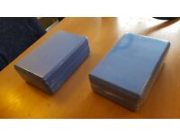 2x Blue Yoga Blocks in original packaging (unused)