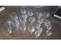 Assortment of glass cups / glasses (20 pieces)