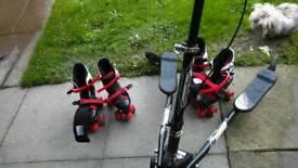 Scooter & rollerskates job lot