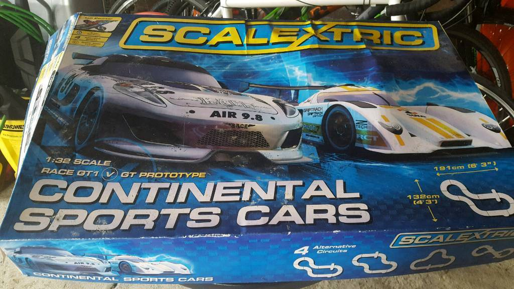 Scalextric Continental Sports Cars Track Set