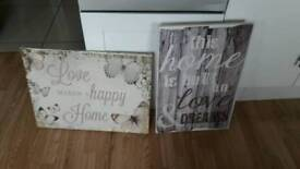 CANVASSES AND MIRROR £3 EACH