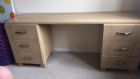 Lovely desk/dressing table oak colour great condition need gone ASAP