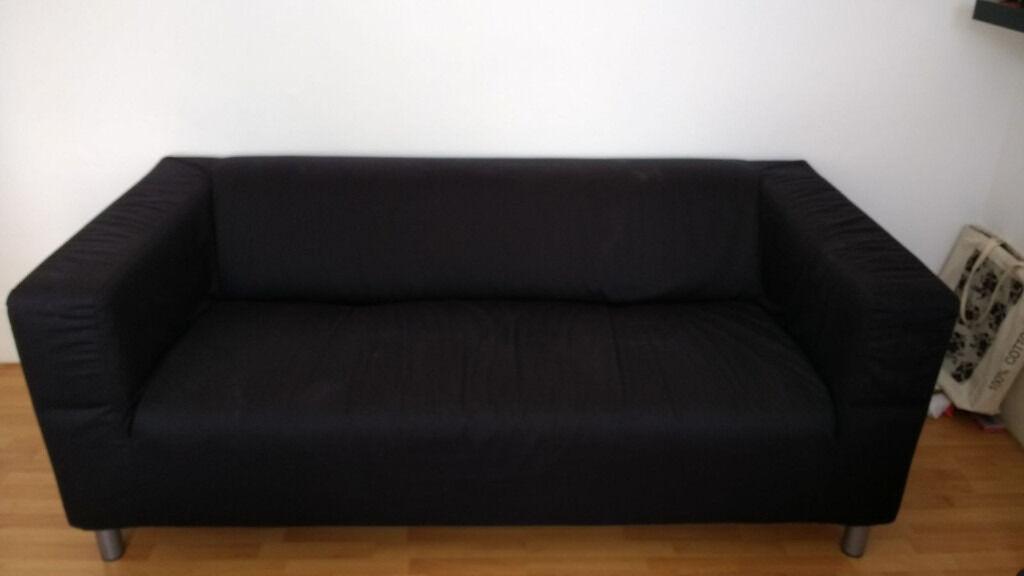 Black Ikea Klippan Couches For