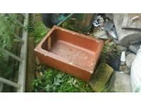 Garden planter trough