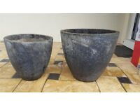 Stone patio Containers