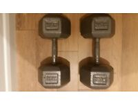 27.5kg cast iron dumbbells