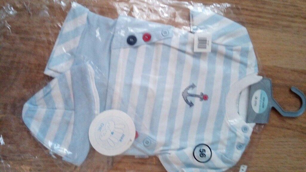 Mini chic sailor t-shirt,shorts and hat set