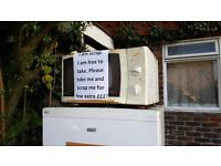 FREE MICROWAVE and FRIDGE/FREEZER for IMMIDIATE PICK UP AVAILABLE