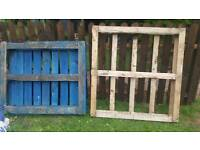 Two Free wooden pallets