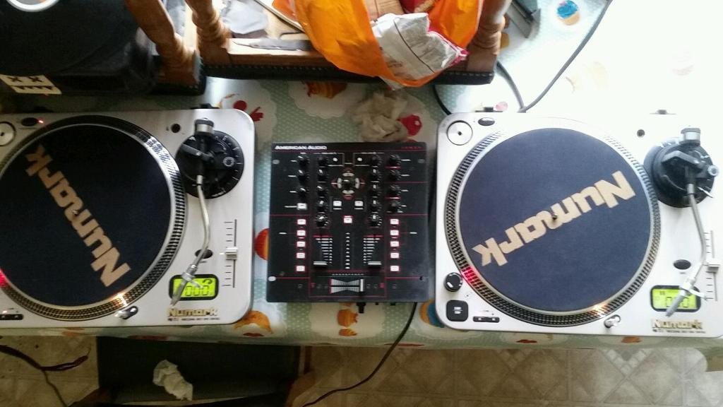 Decks and usb mixerin Ramsgate, KentGumtree - 2 x numark pro tt 1 high torque direct drive turntable with numark concord carts and needles and american audio 10 mxr usb 2 channel mixer. All great condition the mixer has built in soundcard for running dvs ill include my mixvibes dvs software and...