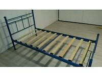 Pending Collection Blue Metal Single Bed Frame