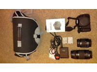 Canon 600D DSLR with 18-55mm and 75-300 mm lenses