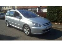 2003 PEUGEOT 307 SE SW ESTATE HDI DIESEL CHEAP CAR 7 SEATER BARGAIN ROOF RAIL PART EXCHANGE WELCOME