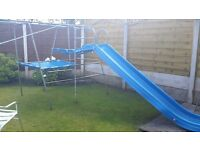 CHILDRENS TP CLIMBING FRAME WITH SLIDE USED BUT IN GREAT CONDITION.