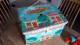 Happyland Village Set and Storage box