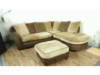 Beautiful corner sofa with matching footstool**Free delivery**