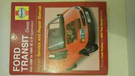 HAYNES MANUAL FORD TRANSIT DIESEL 1986-1999 (C TO T REG) 3019