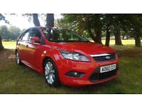 2010 '60' Ford Focus Zetec S 115 Mot Aug 18 Sat Nav Beautiful Colorado Red