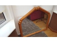 Attractive Pine Wood Mirror for sale