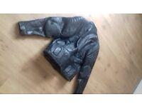 Mens Leather Motorcycle Jacket Size 44