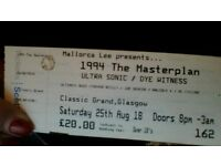 4 Tickets for sale FOR 1994 THE MASTER PLAN