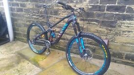 Large canyon strive al07 race frame forks wheels
