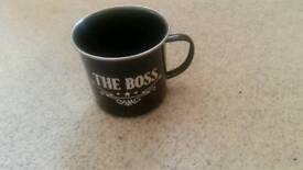 The boss cup mug metal paladone house stuff