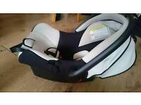 BLACK & GREY REAR FACING BABY CAR SEAT & CARRY HANDLE 0-13KG KIDS