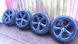 "BMW X5 20"" ALLOYS & TYRES FITS RANGE ROVER, VW T5 TRANSPORTER"