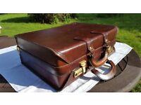 Leather briefcase/pilot's case