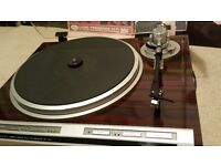 PIONEER PL-707 Turntable + NEW MOVING COIL CART/STYLUS - Rare Record Player Deck - AUDIOPHILE TOP X