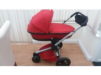 QUINNY BUZZ XTRA PUSHCHAIR PRAM RED ONLY 4 MONTHS OLD