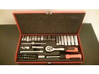 Socket Wrench Set Tool Box