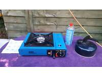 Camping stove kettle and gas bundle