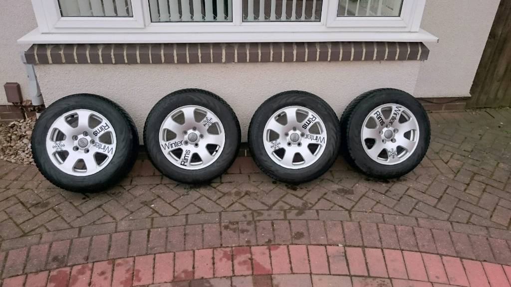 Genuine Audi alloy wheels and winter tyres
