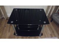 Black Glass TV Stand 4 Tier