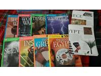 8 x educational books