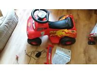Lightning McQueen Battery powered ride on with instructions