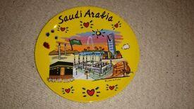 Decorative plate from Saudi Arabia