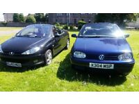 VOLKSWAGEN GOLF CONVERTIBLE CABRIO 2.0 1 YEAR MOT